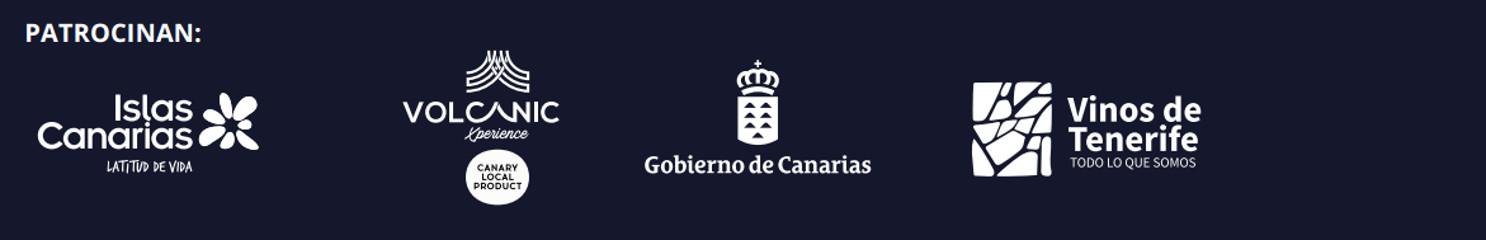 Patrocinadores: Islas Canarias, Volcanic Experience, Gobierno de Canarias, Vinos de Tenerife